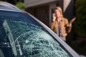 Cracked Auto Glass